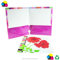 File Folder Fashion 2 pocket Portfolios with 3 Prongs, pk of 2 CMYK Letter Size