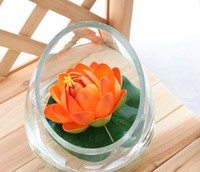 2014 SJ AF096 Wholesale yellow artificial lotus flower plastic lotus water lily for decorative artificial floating lotus flower