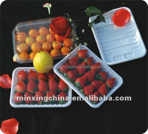 New customized disposable strawberry fruits clamshell packaging box