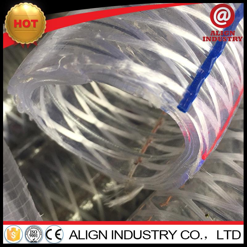 Professional flexible steel wire oil/powder/chemicalhose anti-static pvc steel spring reforced fuel hose