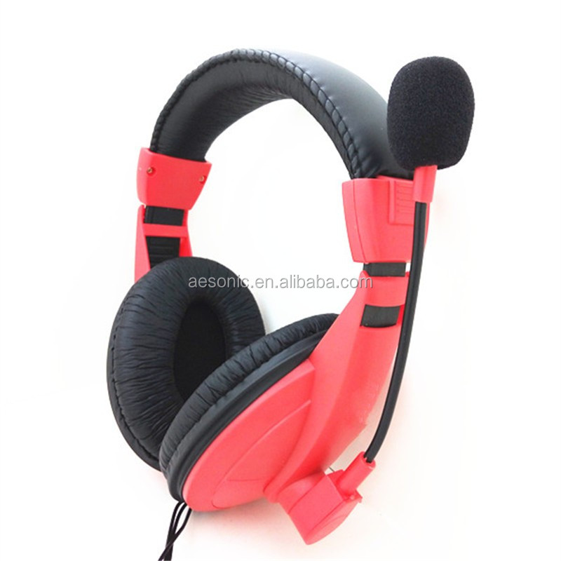 Cheap Computer Headphone With Microphone And Headphone Headset With Stereo Sound