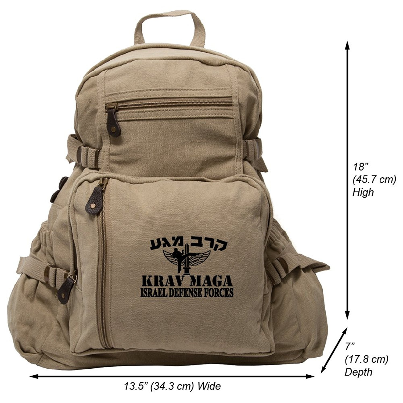 Krav Maga Martial Arts Isreal Defence Forces Arts Heavyweight Canvas Backpack