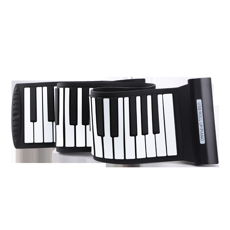 USB Roll Up Electronic Piano 61 Keys 88 Keys Flexible Silicon Roll Up Piano Keyboards Instrument