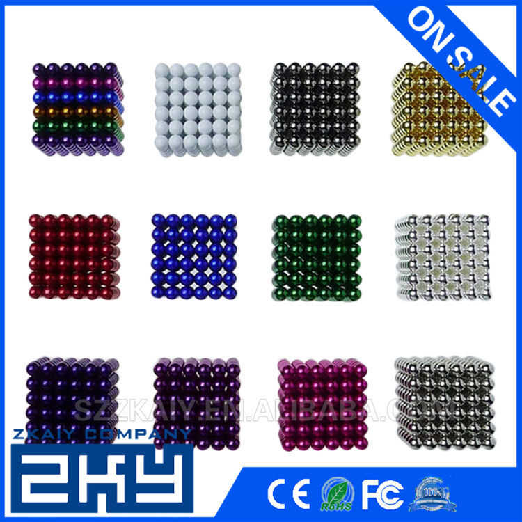 Colorful 216Pcs 5mm Magnetic Balls Magic Cube Spheres Beads Magnets Puzzle Cube Magic Novelty DIY Kids educational Toys Gift