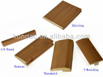 Solid Bamboo Flooring Accessory Skirting T Moulding Reducer Quarter Round
