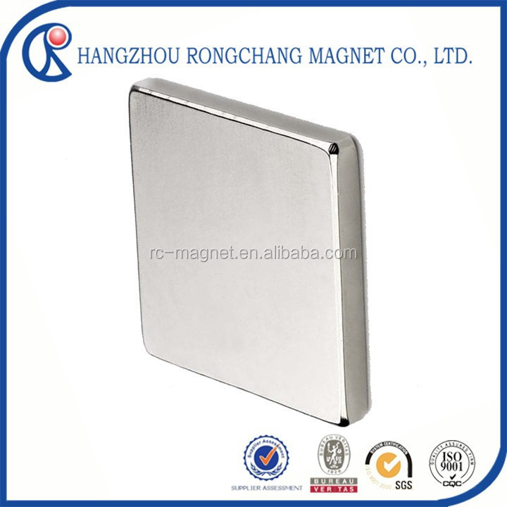 Strong rare earth ni coated neodymium sintered flat thin block magner