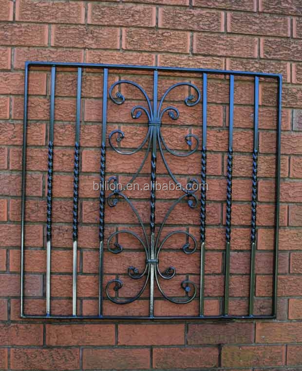 2014 New Design Wrought Iron Veranda Window