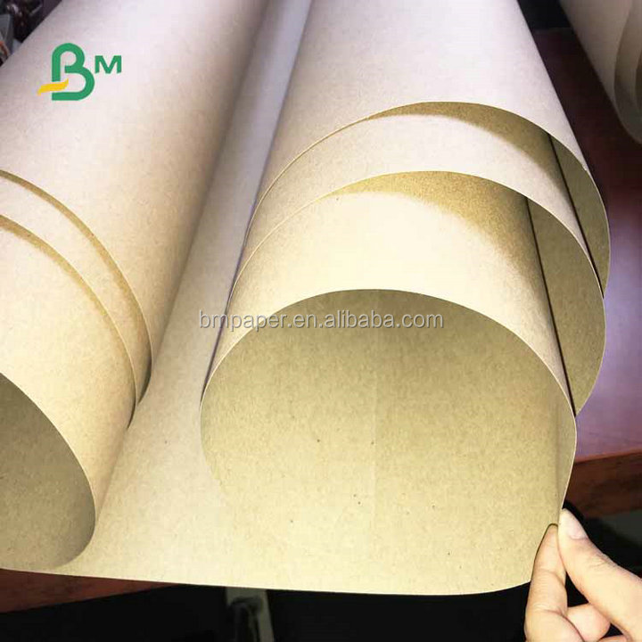 Eco-friendly 250gsm 300gsm 350gsm 70*100cm  Recycled Brown Kraft Paper For Paper Bags