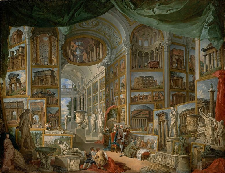 Canvas Art Prints Stretched Framed Giclee Oil Painting Giovanni Paolo Panini <font><b>Italian</b></font> Piacenza 1691-1765 Rome Ancient Rome