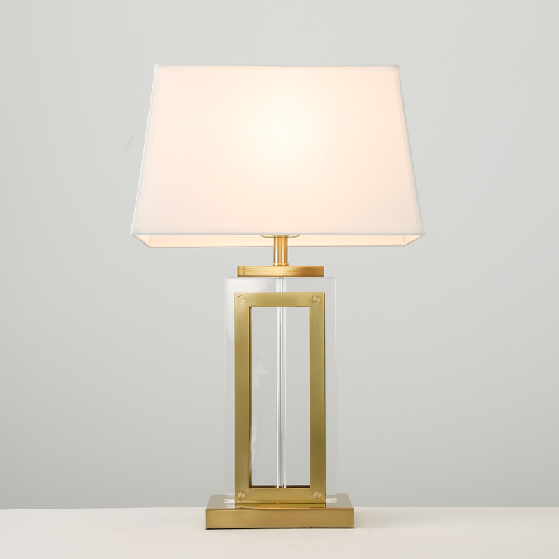 Best Prices unique design contemporary mosaic glass table lamp white and gold