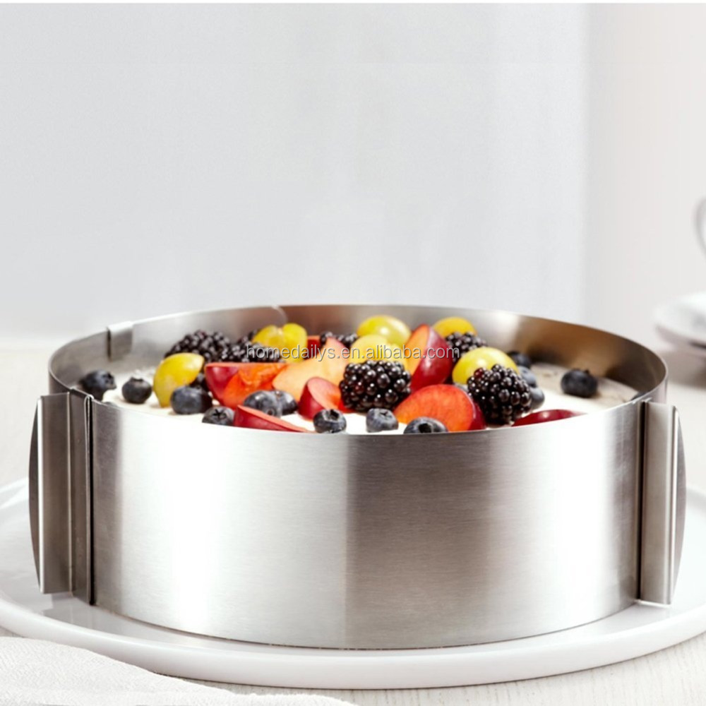 Stainless Steel Adjustable 6 inch to 12 inch Round Cake Ring Mold Mousse Mold