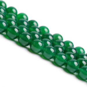 factory price 10mm natural round green agate stone loose beads for jewelry making