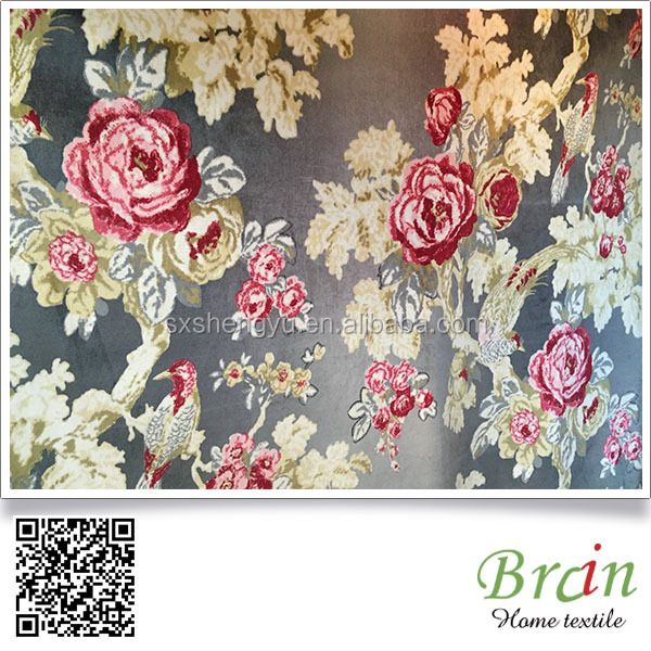 100% polyester wholesale factory print korea velvet fabric for home textile