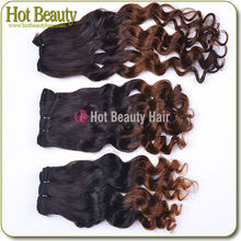 Fashion Styles Ombre Deep Wave Model Human Hair,Short Ombre Hair