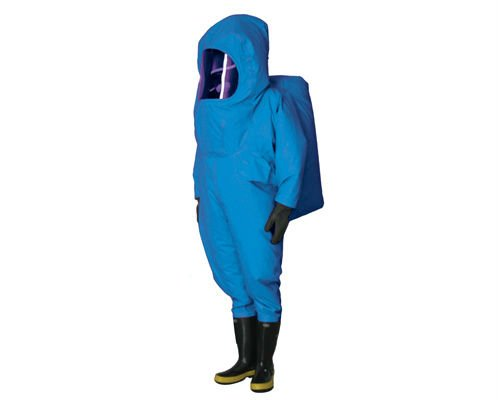 Firmen Use Antivirus Gas Tight Chemical Protective Clothing