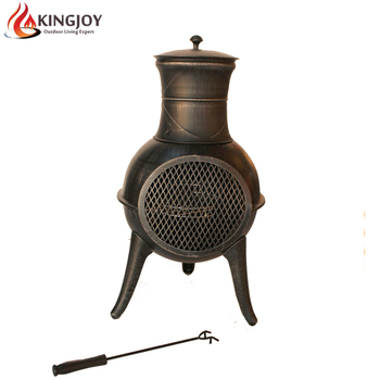 Cast Iron Chiminea Patio Heater Bbq Fire Pit Chimenea Wood Burning Stove