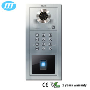 fingerprint biometric video door phone with 7 inch color screen, high sensitivity quick reaction secure video intercom