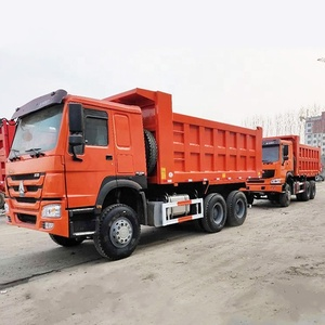 used low price International Edition Sinotruk Howo second-hand 6x4 371hp 375hp tipper dump lorry Truck