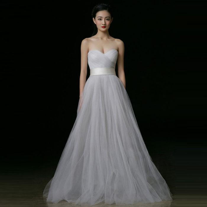 Белые платья без плечей