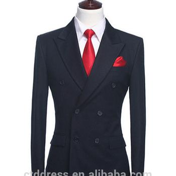 d487135aee7 Двубортный 6 кнопок Пик нагрудные тонкий штуцер темно-мужские костюмы