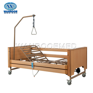 BAE509 Medical Furniture Electric Wooden Home Care Patient Nursing Bed