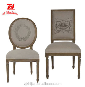 Charmant Wood Chair Leather Seat Wooden Louis XVI Side Chair Antique Resturant Dining  Chair ZJ G15