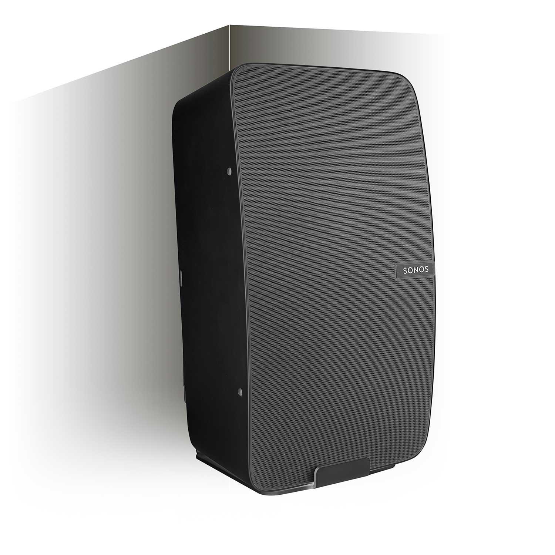 Vebos corner wall mount Sonos Play 5 gen 2 black - vertical en optimal sound experience in every room - Compatible with SONOS PLAY:5