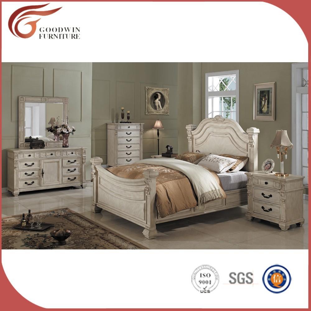 Attraktiv Antiken Stil Weiß Luxus Schlafzimmermöbel Sets