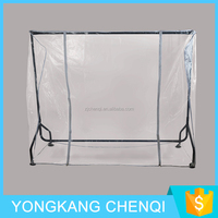 NEW Portable Closet Wardrobe Clothes Garment Storage Rack 3FT Clear Cover Heavy