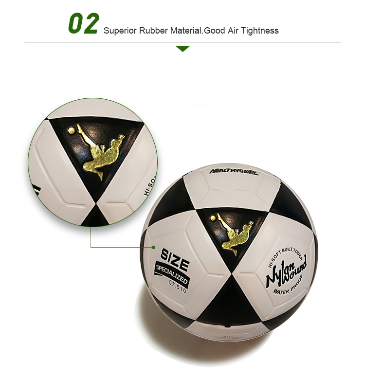 Customized high quality official size 3 outdoor sports equipment futsal  soccer ball