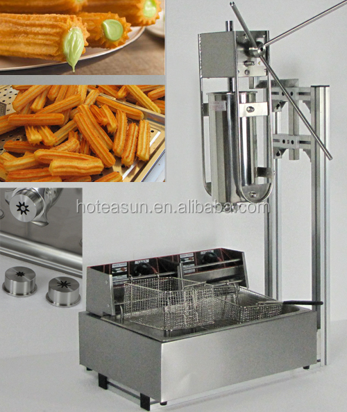 Hot Sale 4 in 1 5L Manual Churro Machine + Working Stand + 12L Deep Fryer + 700ml Churro Filler