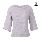 Fancy 3/4 Sleeve Ladies Pullovers Sweater Simple Fashion Loose Casual Women Sweater