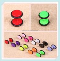 Honestar Wholesale Colorful Paintting 316L Stainless Steel Fake Earrings Body Jewelry