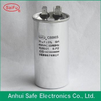 Cbb65 Motor Run Capacitor 200v 250v 350v 370v 400v 450v 500v 550v ...