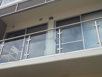 Best Modern Handrail Design Stainless Steel Frameless Glass Balcony