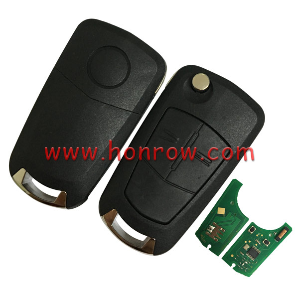 High quality Honrow For Opel VAUXHALL and ASTRA H 2 Button Flip Remote Key with 7941 Chip and 433MHZ (Before 2006) Op-RH-01