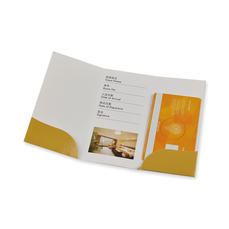 Zuoluo original design hotel key card holder printing with your logos