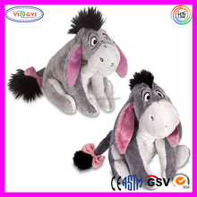 A044 Branded Cartoon Soft Sitting Animal Stuffed Donkey Eeyore Plush Toy