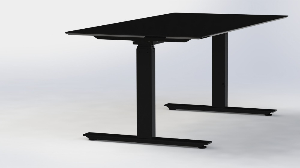 Dual Motors Standing Table T motion Office Electric Table With