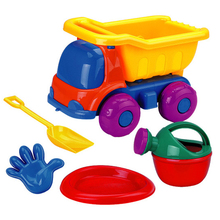 Children funy beach set toys 5pcs Summer Sand Beach car Toys with tools