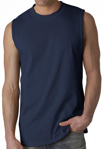 New Arrival Mens Plain Blank Black Sleeveless T-shirts For Gym ...