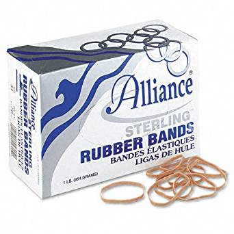 Alliance Products - Alliance - Sterling Ergonomically Correct Rubber Band, #31, 2-1/2 x 1/8, 1200 Bands/1lb Box - Sold As 1 Box - Excellent, easy stretch to help avoid Carpal Tunnel Syndrome. - Perfect for repeated use and fast application. -