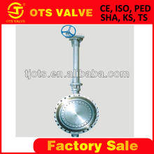 high quality long stem underground valve wafer butterfly valve with handle lock DN50-DN1200