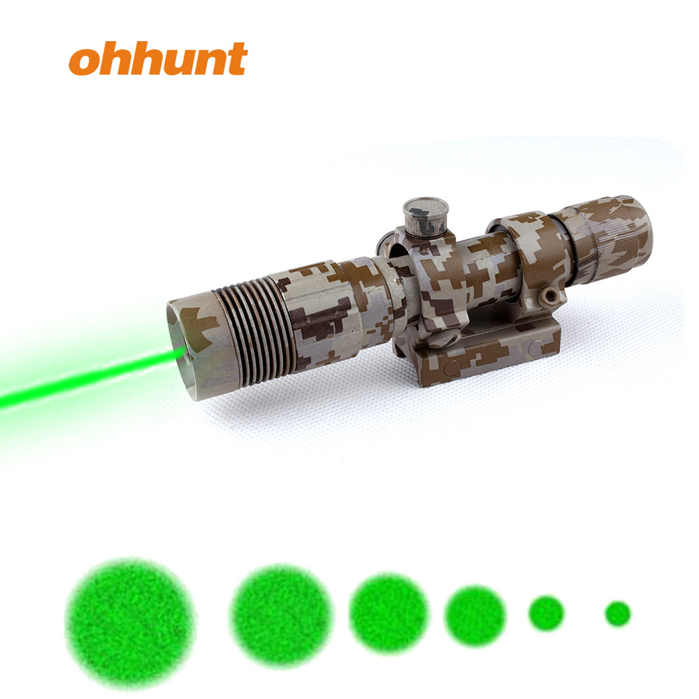 Remote Switch 635nm Green Laser Dot with Picatinny Rail 5mw for Rifle