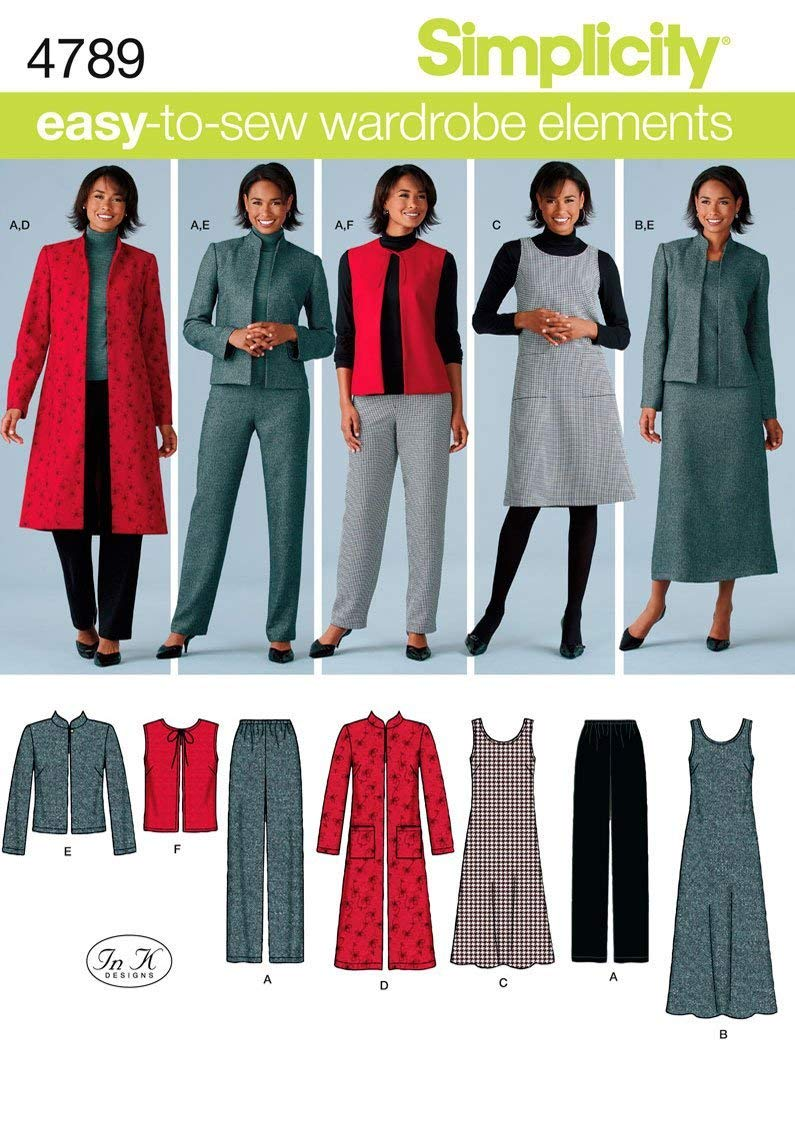 Simplicity U5 16-18-20-22-24 Sewing Pattern 2183 Misses Easy to Sew Vest//Jacket