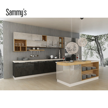 AK151 Small open kitchen modern design with kitchen island in China