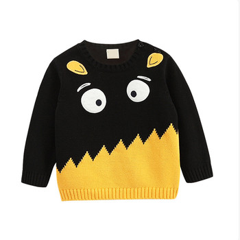 Kids Cute Pullover Knitting Patterns Children Cartoon Boys Sweater