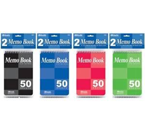 "3 Pk, BAZIC 4"" X 6"" Top Bound Spiral Memo Books 50 Ct. Each(6 Books in Total)"