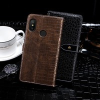 Crocodile pu leather for Xiaomi Mi A2 Lite cover Factory OEM tpu phone case High Quality Luxury Flip Wallet PU Leather case