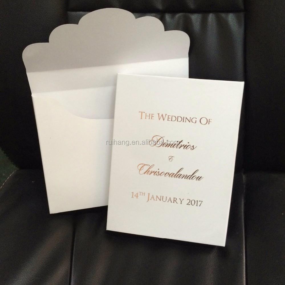 White Hardcover Velvet Wedding Invitation Box - Buy Luxury Hardcover ...